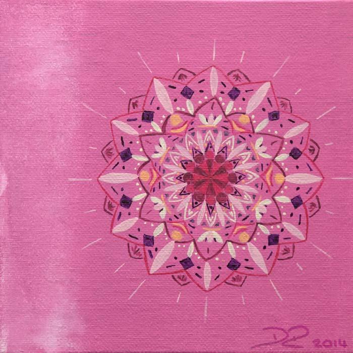 Acryl auf Karton / 15 x 15 cm