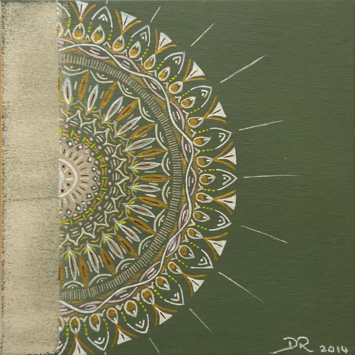 Acryl auf Karton / 20 x 20 cm